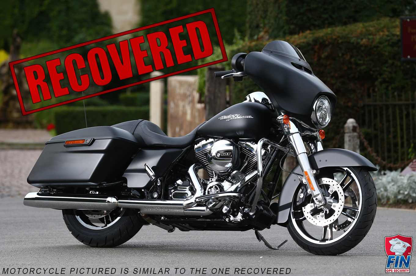 Featured Theft Recoveries Find It Now Usa Llc Harley Davidson Gps Wiring Fin Assists In Recovering Stolen 2014 Street Glide